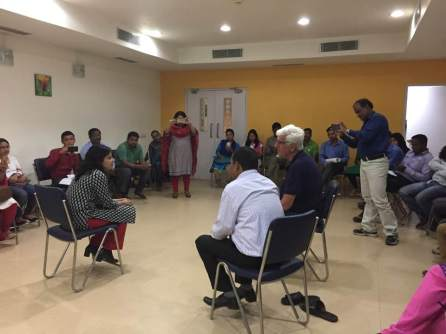 A short play on positive counseling, on the SALT approach as part of the workshop