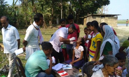 Dr Kuldeep attends to patients in Jorhat