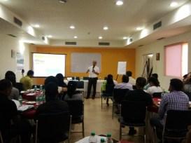 Dr. Arup K. Sarma from IIT-Guwahati speaking at the workshop