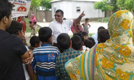 Sultan Nekib DPO, Dhubri Unit I conducting the awareness session during the Unicef team visit