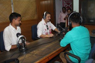 Siddharth Shrestha, Communication for Development (C4D) Chief UNICEF visited Radio Brahmaputra on 29th May 2018 and observed the station's community initiatives on adolescent health at Maijan T.E. North Line. C4D involves understanding people, their beliefs and values, the social and cultural norms that shape their lives. It involves engaging communities and listening to adults and children as they identify problems, propose solutions and act upon them