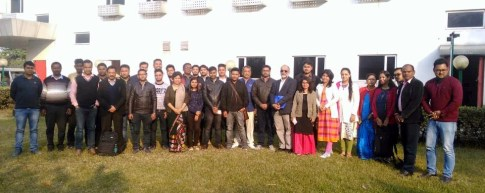 District Programme Officers(DPOs) and Medicals Officers from the 15 Boat Clinic Unit with the Managing Trustee and Programme Management Unit at Guwahati's Ginger Hotel before the Review Meet with NHM on 19th January 2019