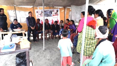 Awareness session on TV detection and treatment at Dibrugarh's Aisung village on 26th February 2019