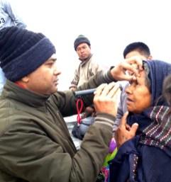 Eye screening camp at Kobu Sapori