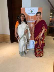 Monica Banerjee, Director, NFI with Bhaswati Goswami at the meet