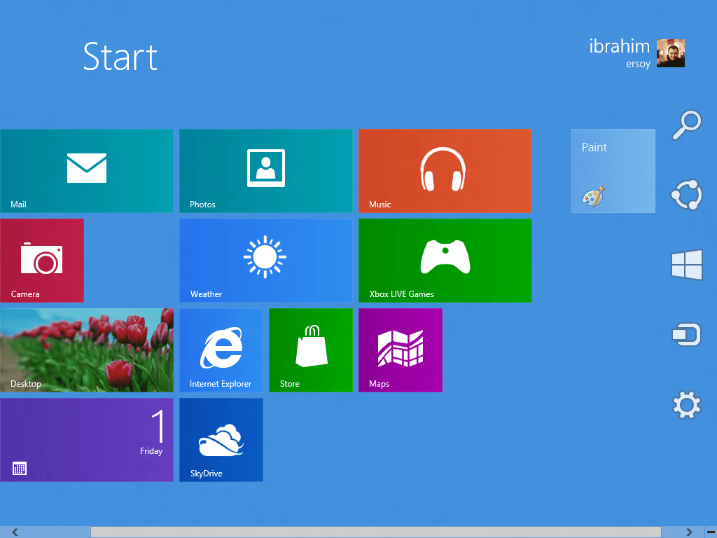 Settings Pane In Windows 8