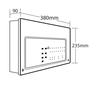 CFP7044 CFP Standard 4 Zone Conventional Fire Alarm Panel