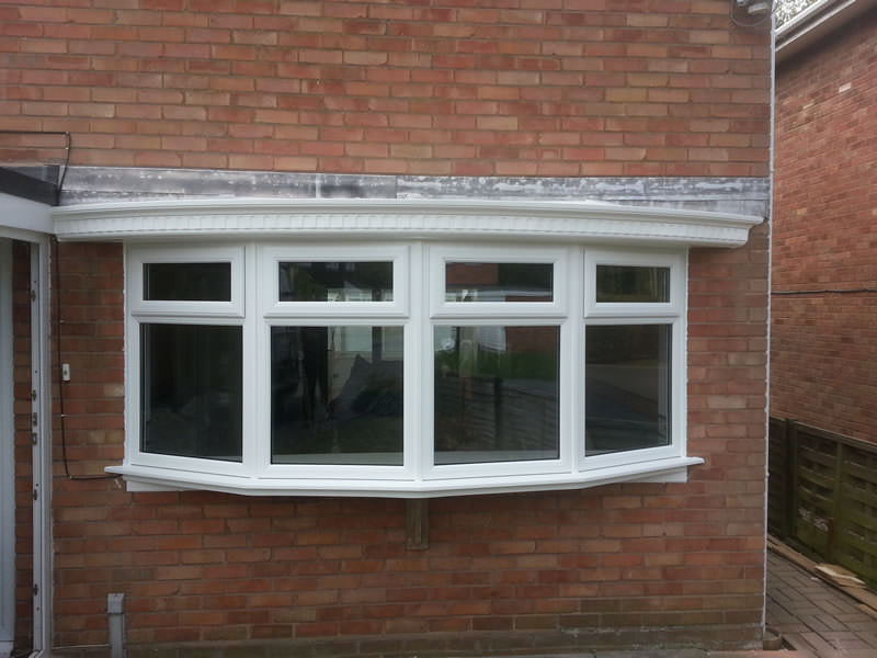 Replacement PVCu bow window