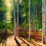 Michelle Courier woods painting