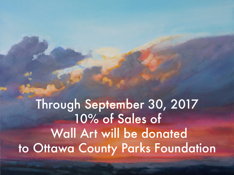 Ottawa County Parks Foundation donation and Michelle Courier painting