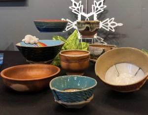 A variety of handmade Ceramic and wood bowls
