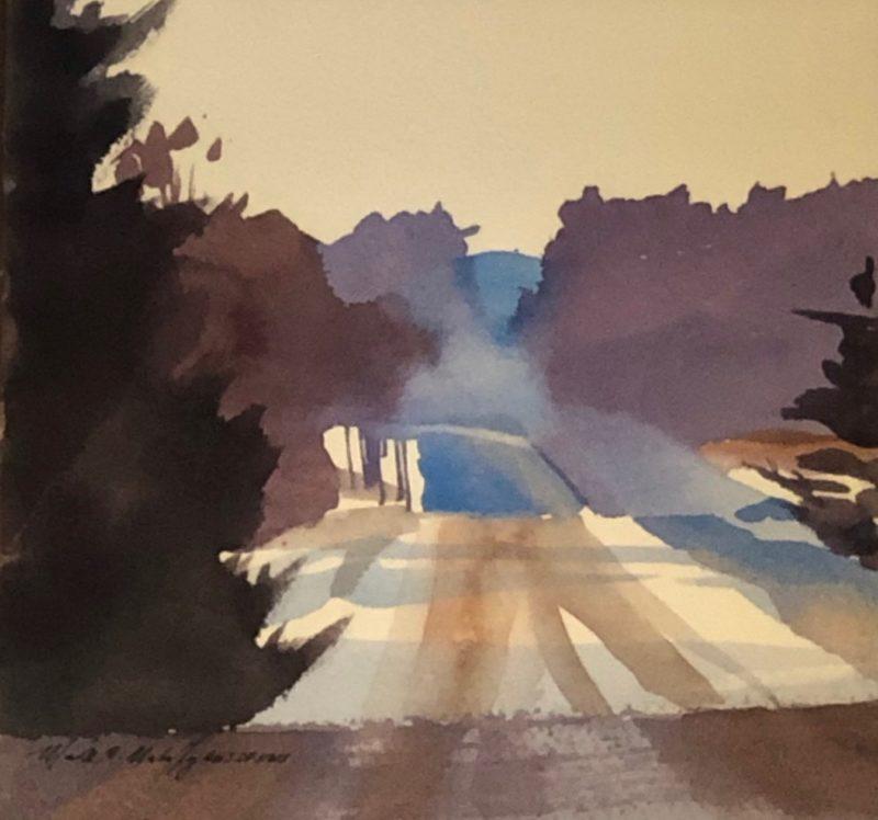 Back Road Winter by Mark Mehaffey