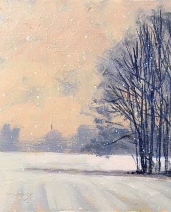 Winter - Acrylic Painting by Mark Mehaffey
