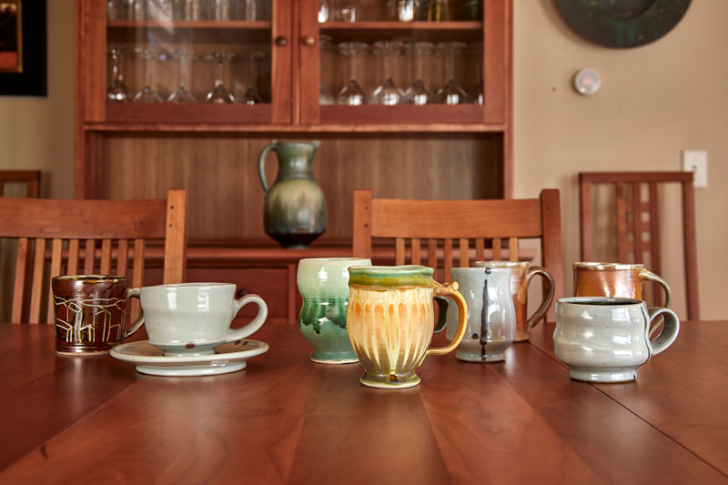 variety of mugs and a pitcher