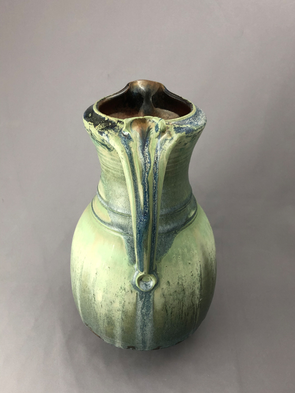 handle view of ceramic pitcher by Richard Aerni