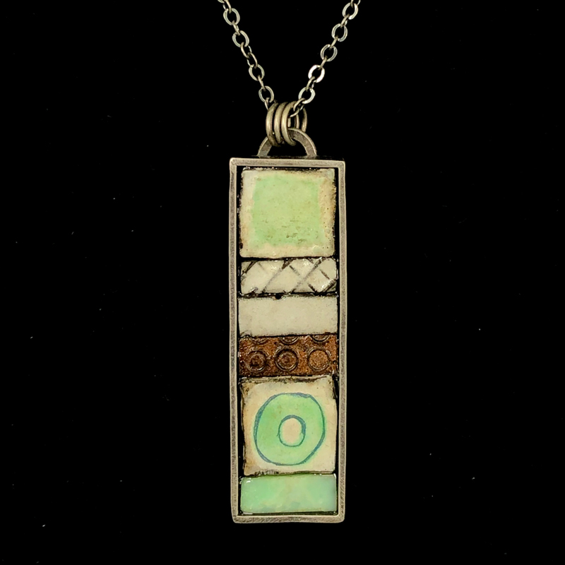 Silver Boxed Pendant by Julie Billups