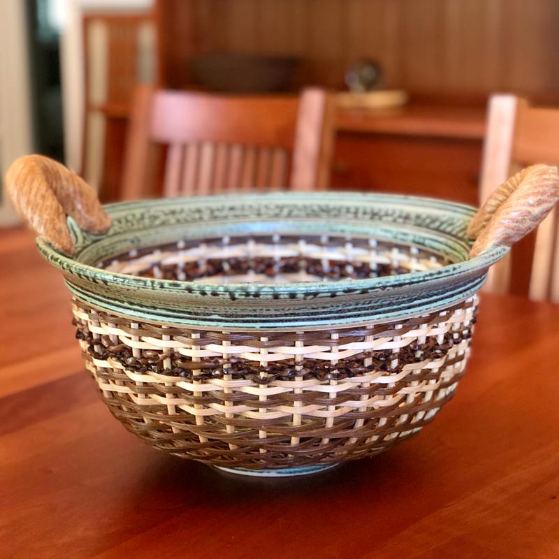 Large Green Smoked Bowl