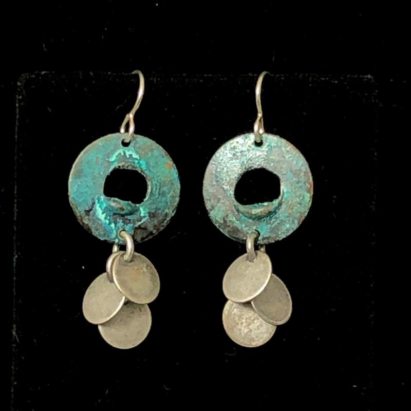 Disc Dangle Earrings by Lochlin Smith