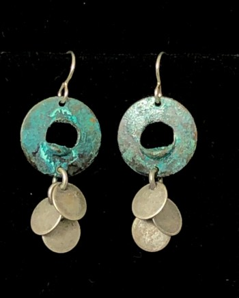 Disc Dangle Earrings by Lochlin Smith