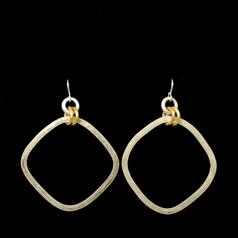 Square Hoop Earrings by Lochlin Smith
