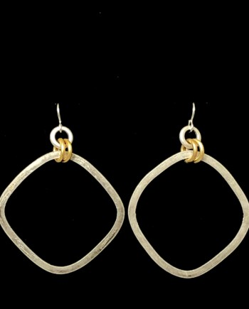 Square Hoop Earrings by Lochlin Smith