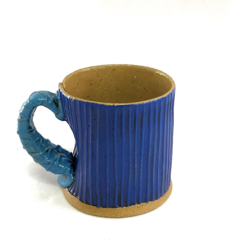 Blue Textured Mug by Cory McCrory