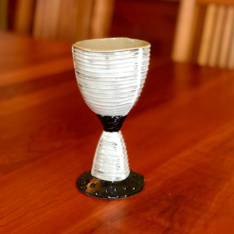 Handmade Ceramic Goblet by Cory McCrory