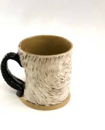 White Textured Mug by Cory McCrory
