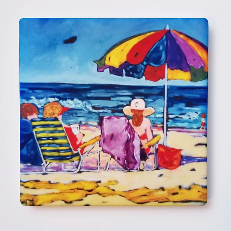 Beachgoers II Coaster by Christi Dreese