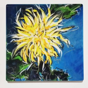 Chrystanthemum II Coaster by Christi Dreese