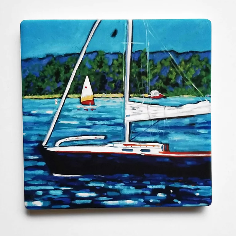 Sailing Coaster by Christi Dreese