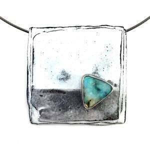 Australian Boulder Opal Pendant by Julie Billups