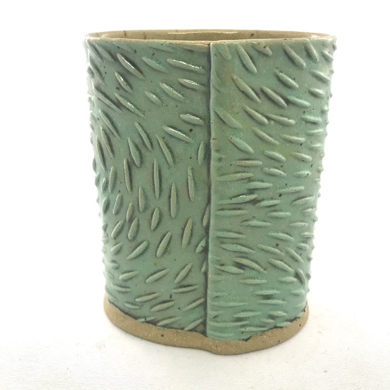 Back of Little Textured Vase