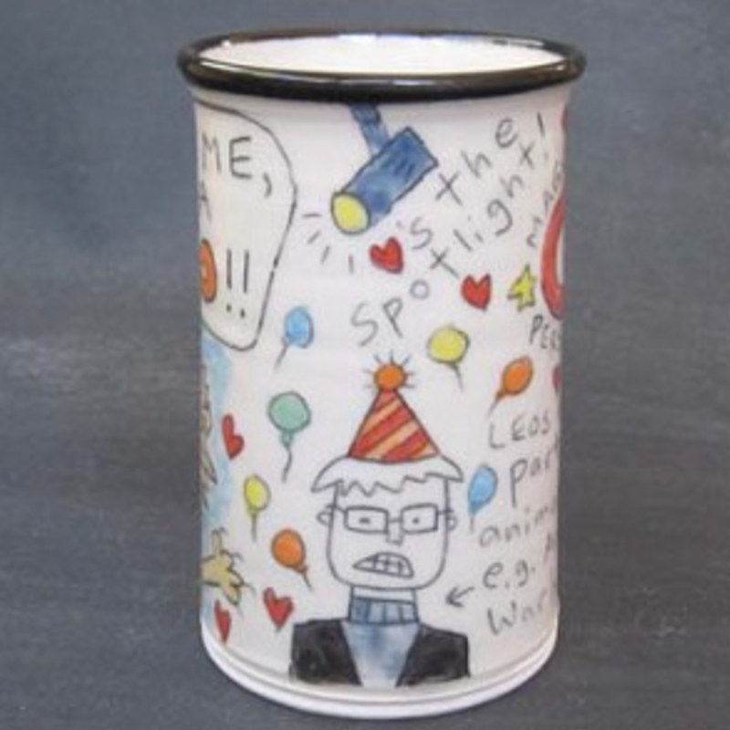 side view of Leo Mug by Tom Edwards