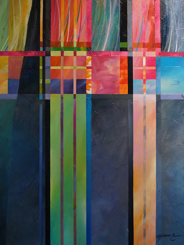 abstract painting by Michelle Courier