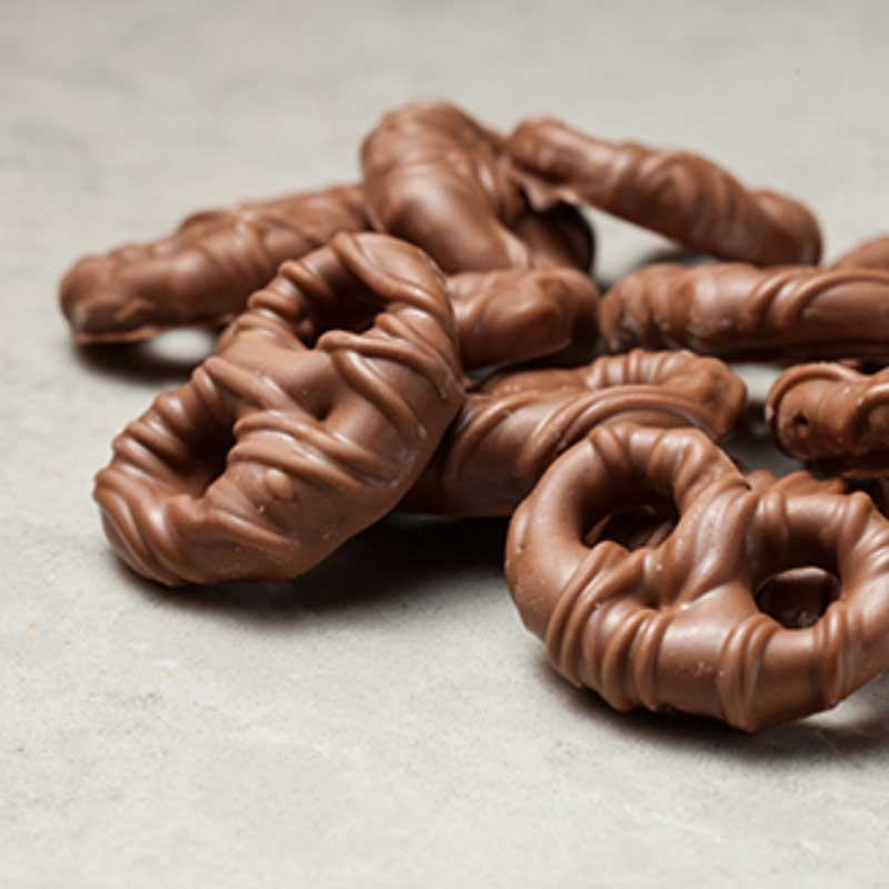 Chocolate covered pretzels by Fortinos