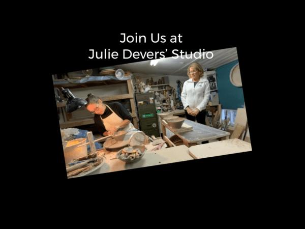 Watch Julie Devers throw pots in her studio