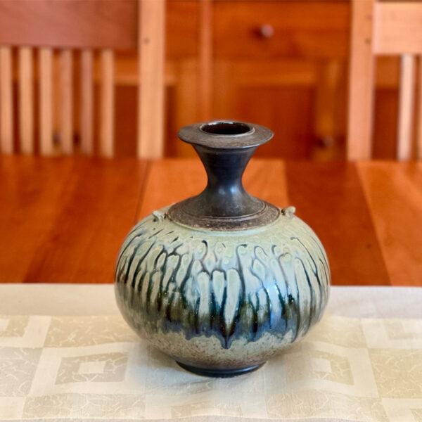Handmade Ceramic Bottle Vase by Richard Aerni