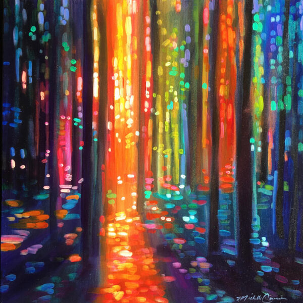 Forest Light 14 - Original Acrylic Painting by Michelle Courier
