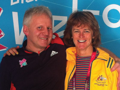 Rainer Wieser and Lisel Tesch (Australian Sailing gold medal winnner) at London Paralympics 2012