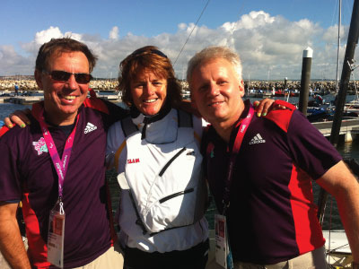 Rainer Wieser, Liesl Tesch and Daniel Fitzgibbon (Gold medal winning Sailers) at London Paralympics 2012