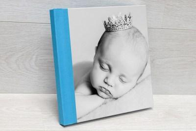 Photo Book - Split Cover (Cover Style 3) - Front = Velvet Finish - Material = Sky Blue (33)