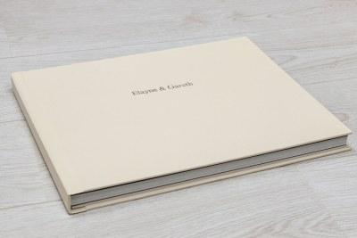 """Album - 12""""x9.6"""" - Material = Cream (30) - Foiling - Font = Gill Medium / 36pt"""