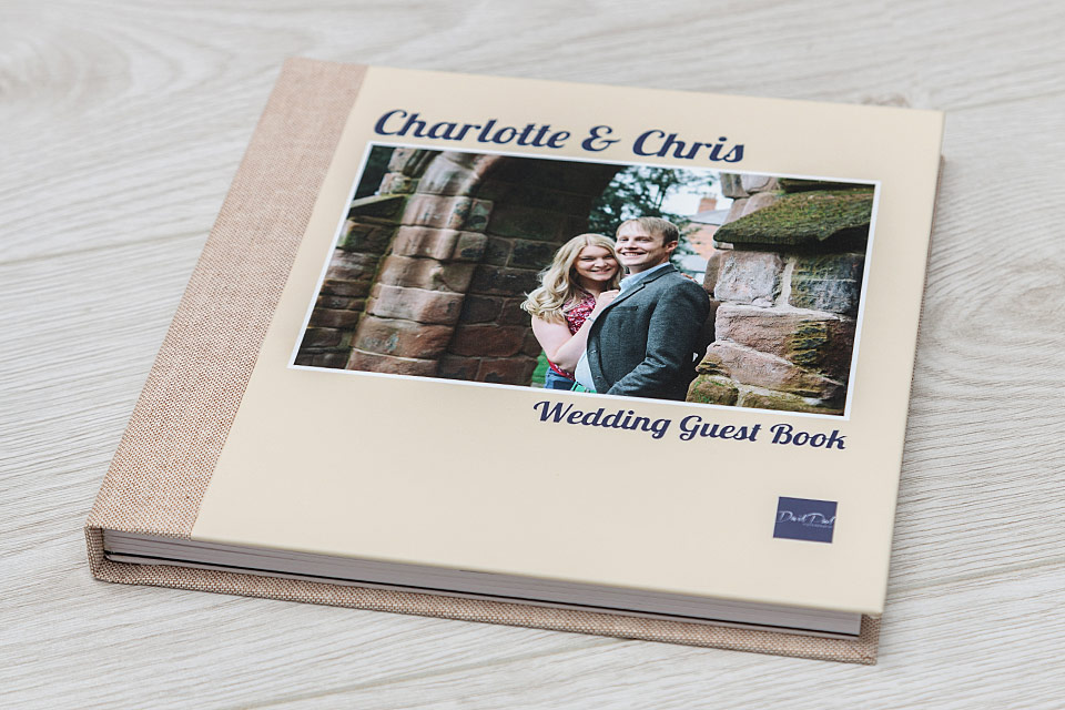 "Guest Book - 10""x10"" - Split Cover (Cover Style 3) - Material = Crash (2) - Image Finish = Velvet"