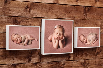 """Box Frame - 8""""x8"""" (Middle) / 8""""x5"""" (Left & Right) - Frame = White / Style = Floating"""