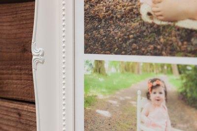 """Swept Art Frame - 36""""x24"""" - Frame = White / Mount = None"""