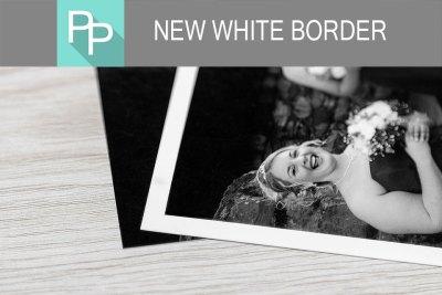 White Border on Photographic Prints