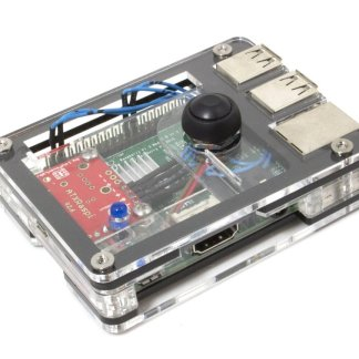 Zebra Power Button Case for Raspberry Pi
