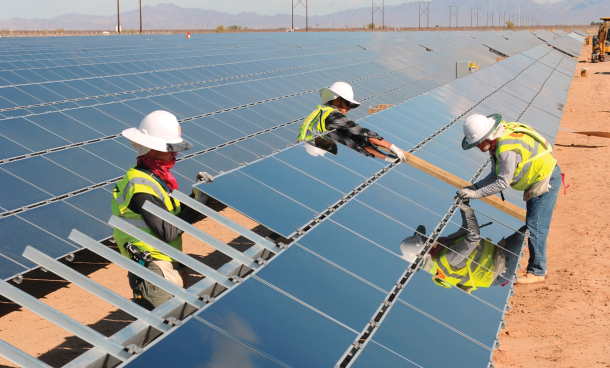 Topaz Solar Farm Construction