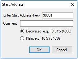 CBM Prg Studio Generate SYS() Call